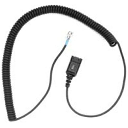 Plantronics Coil Cord to QD Modular Plug