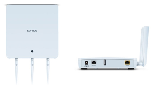 Sophos AP 100 rev.1 Access Point (ETSI) with PoE power adapter and AU power cord