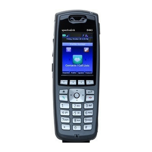 Spectralink 8440 Handset only, BLACK w/Lync Support.(order battery separately)