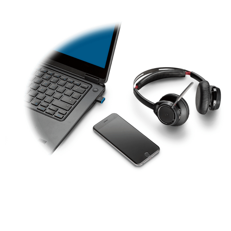 Plantronics Voyager Focus UC B825-M Headset Optimised for MS Lync