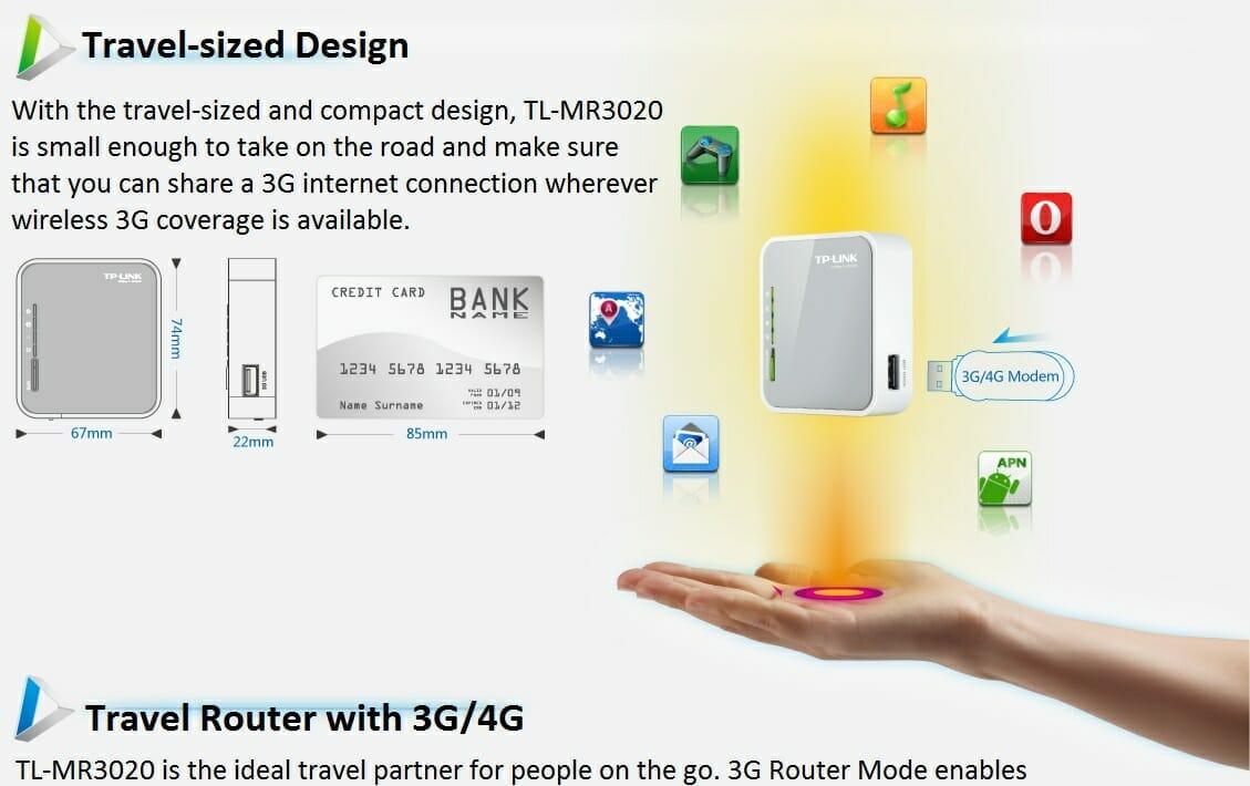 TP-Link TL-MR3020 Portable 3G/4G Wireless N Router - MyITHub Australia