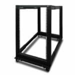 CBN-4P-18RU – Serveredge 18RU fully assembled 4 post Adjustable Server rack With Castors