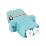 LC-ADP-OM4 – Serveredge LC Female to LC Female Multi mode Duplex OM4 Fibre Adaptor – AQUA COLOR