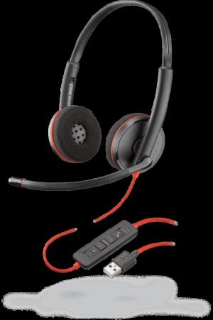 Plantronics Blackwire C3220 Stereo UC USB Headset