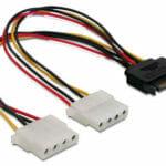 S2M-ADP – 20cm SATA (Male) To 2 x Molex (Female) Power Adapter