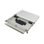 SAFP-01 – Serveredge 1RU Fibre Sliding Patch Panel with Splice Cassette Splice Protector & Mounting Kit
