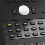 SNOM-D725 – 12 Line Professional IP Phone, Gbit port + 1x USB port. 4 context-sensitive function keys. Wideband audio