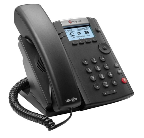 Polycom VVX 201 2-line Desktop Phone with dual 10/100 Ethernet ports  PoE  only