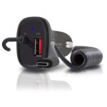 Alogic CRCICA27 – 2 Port USB-C & USB-A Car Charger with Integrated Cable