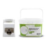 UKSUC5E-100WH – Serveredge Universal Cat5e UTP RJ45 Modular Keystone Jack – White – Pack of 100