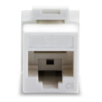 UKSUC6-10WH – Serveredge Universal Cat6 UTP RJ45 Modular Keystone Jack – White – Pack of 10