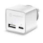 WCCA17MWH – ALOGIC 2 Port Combo USB-C & USB-A Mini Wall Charger – 3A + 2.4A – 17W – WHITE