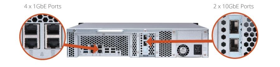 TS-873U-4G - QNAP TS-873U-4G,8BAY NAS(NO DISK), RX-421ND, 4GB,10GbE, SFP+  2,GbE x 4, M 2 x2 , 2U, 2 Years Warranty