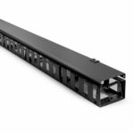 CMR-27UVFD – Serveredge 27RU Vertical Cable Manager with Finger Ducts for 800mm Wide Cabinets – Black Colour
