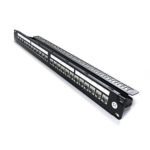 C6A-PP24ULC-CUP-SH – Serveredge 24 Port Shielded Cat6A 10 Gigabit Patch Panel with Couplers