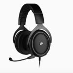 CA-9011215-AP – Corsair HS50 PRO Carbon STEREO Gaming Headset, Plush Foam, 50mm neodymium Drivers, Uni-directional microphone, Discord certified. Multi-Platform