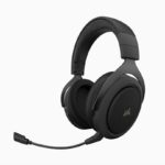 CA-9011211-AP – Corsair HS70 Pro Wireless Gaming Headset Carbon. 7.1 Sound, Up to 16hrs of Playback. PC and PS4 Compatible. 2 Years Warranty