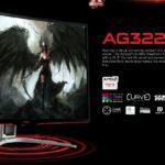 AG322FCX1/75 – AOC AGON 31.5′ 144Hz 1ms, Curved, FreeSync ,VA Panel, Full HD, Metal Bezel – HDMI/DP/DVI/VGA,Tilt, Shadow Control, Game Mode, Elite Gaming Monitor