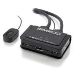 KP02UDPA-V2 – Serveredge 2-Port USB / DisplayPort Cable KVM Switch With Audio & Remote-4K