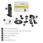 StarTech.com Dual Monitor USB 3.0 Docking Station with HDMI – DVI – 6 x USB Ports