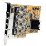 StarTech.com 4 Port PCI Express Gigabit Ethernet NIC Network Adapter Card