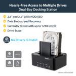 StarTech.com USB 3.0 SATA Hard Drive Duplicator & Eraser Dock – Standalone 2.5/3.5in HDD & SSD Eraser and Cloner