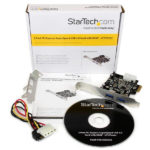 StarTech.com 2 Port PCI Express (PCIe) SuperSpeed USB 3.0 Card Adapter with UASP – LP4 Power