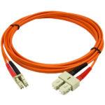 StarTech.com Fiber Optic Cable – Multimode Duplex 50/125 – LSZH – LC/SC – 2 m