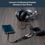 StarTech.com Headset adapter for headsets with separate headphone / microphone plugs – 3.5mm 4 position to 2x 3 position 3.5mm M/F