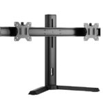 LDT32-T02 – Brateck Dual Screen Classic Pro Gaming Monitor Stand Fit Most 17′- 27′ Monitors, Up to 7kgp per screen-Black Color