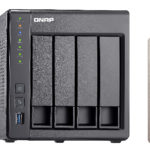 QNAP TS-451+ NAS Tower Ethernet LAN Black J1900