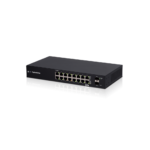 ES-18X – Ubiquiti EdgeSwitch 18X – 16-Port PoE Gigabit Switch, 2 SFP Port, Supports PoE Passthrough,