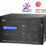 VM1600A-AT-U – Aten 16×16 Modular Digital Matrix with Scaler, Seamless Switch, Hot-swappable Aten I/O boards, control via front-panel pushbuttons (PROJECT)